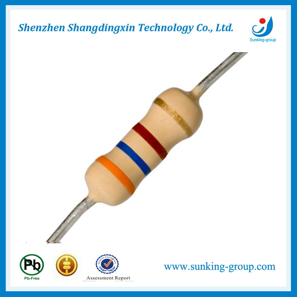 Through Hole Resistor 5% or 1% Resistance Carbon Resistor 1/4W 1/6W 1/8W 1/2W 1W 2W 3W 5W 5% Carbon Film Resistor