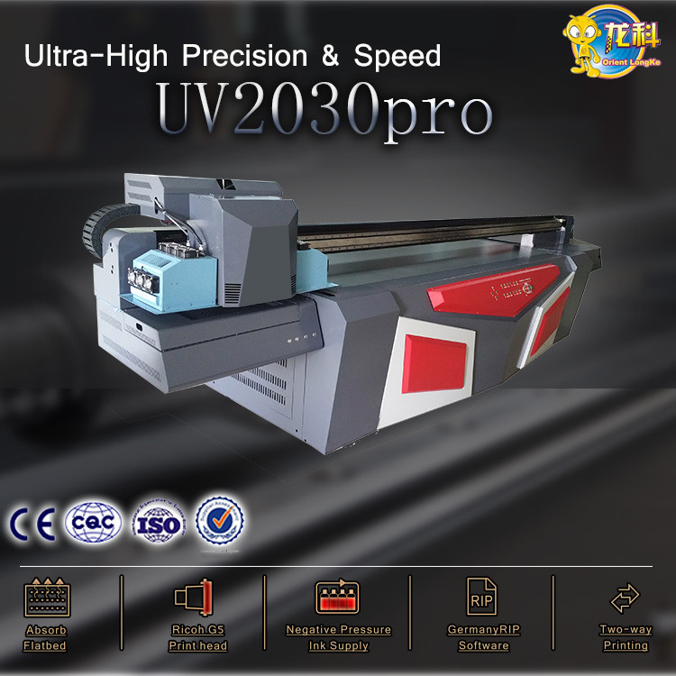 2017 UV 2030 multifunctional flatbed glass door printing machine background wall printer