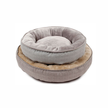 Comfortable short plush grey wholesale cheap pet dog bed warmer