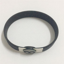 OEM thin silicone bracelet with logo
