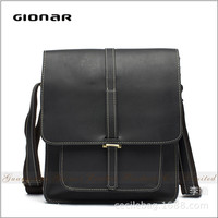 China Manufacturer High Quality Carzy Horse Leather Shoulder Messenger Bag