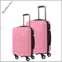 promotional product fashion pink color travel zone girls hard shell luggage
