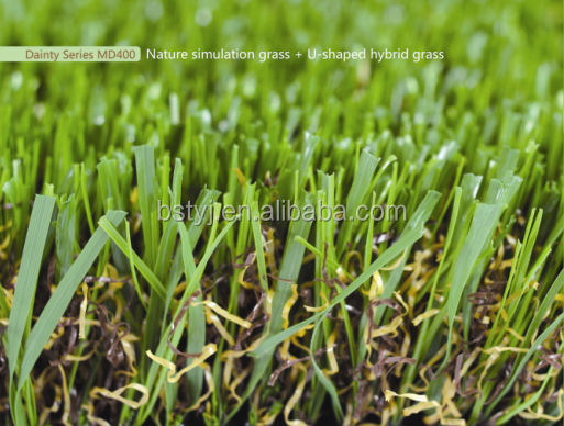 Natural synthetic turf landscaping