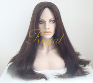 Whole Machine made Glueless Jewish Kosher Mongolian Virgin Full Lace Wigs