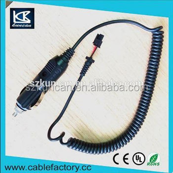 Car charger cigar lighter cable assembly