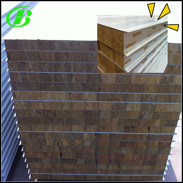 Mineral wool / Rookwool roof Sandwich Panels