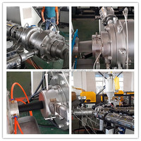 2015 china high output flexible waste pe pipe extruder