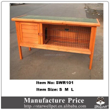 2015 Hot sale custom outdoor wooden rabbit hutch for sale