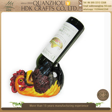 Customized resin rooster animal wine bottle holder on sale