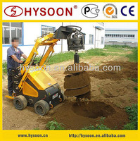 Agricultural, garden machines digging holes in the ground