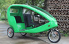JOBO FRP 48V 1000W Motor Three Wheel Velo Taxi Electric Rickshaw Pedicab with Pedal