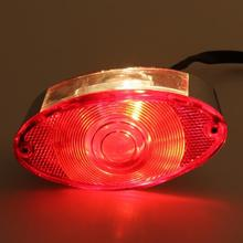 Motorcycle Bike LED Tail Rear Light DC 12V Red Cats Eye