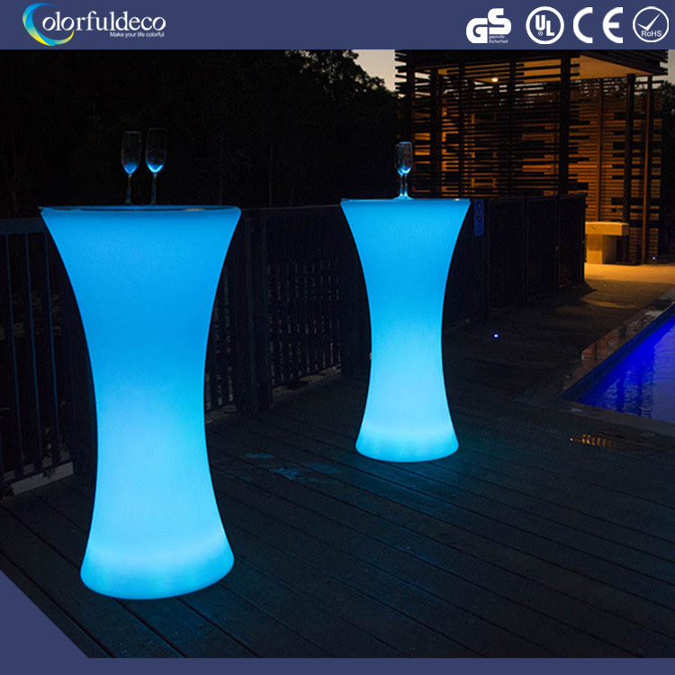 Hot sale event used high quality rbg changeable acrylic LED cocktail bar table