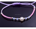 Women's Beaded Wrap Bracelet Cord Handmade Adjustable Wrist Jewelry Stainless Steel Beads Glass Beads Hand Braided Bracelet
