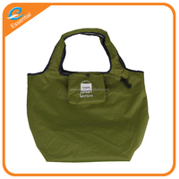Nylon lightweight travel folding foldable drawstring shopping tote bag