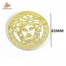 High Quality Gold thread Head Portraits Design Embroidery Patch