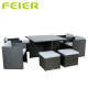 Outdoor Cube Rattan Garden Furniture Set 9pcs Patio Sectional Furniture Set rattan furniture