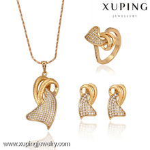 63067 - Xuping Jewelry Fashion Copper Alloy Bridal Jewlery Set with 18K Gold Plated