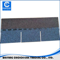 3 Tab colorful asphalt roofing shingles for Europe market