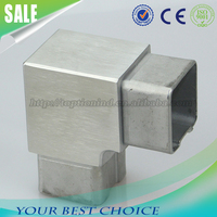 Stainless steel handrail tube connector elbow 90 degreee square connector