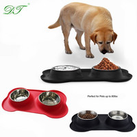 Stainless Steel Dog Bowl With No