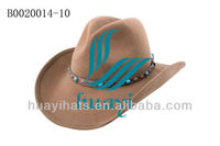 2014 fashion cowboy hard hat with rhineston