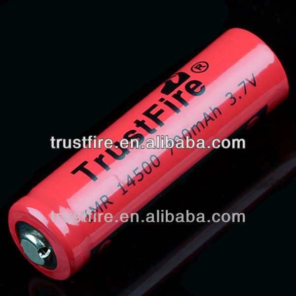 Trustfire ego high drain battery IMR14500 battery 700mAh 3.7V Li-ion rechargeable batteries
