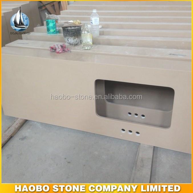 haobo stein beliebten wei en quarz arbeitsplatte gro handel tischplatte badschrank platte. Black Bedroom Furniture Sets. Home Design Ideas