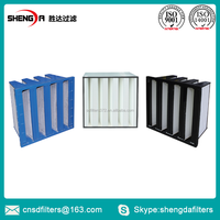 V Shape Hepa filter H13 Combined Mini-Pleat air filter for Ventilation