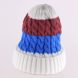 2018 winter's knitted cap cute style custom design winter hat for kids and children