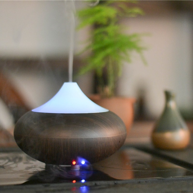 Sunflower oil medical grade silicone oil bamboo wood aroma diffuser
