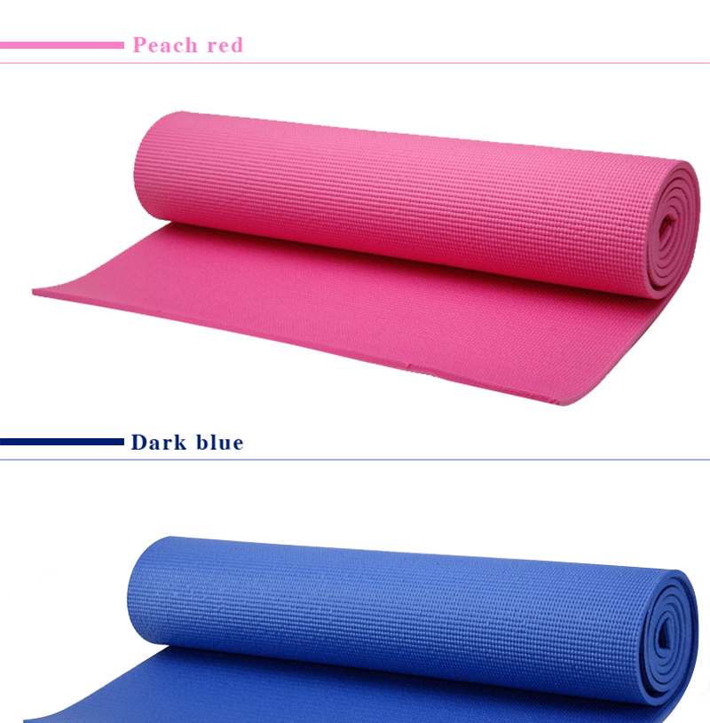 High Quality Durable PVC Non Slip Fitness Yoga Mat from manufacturer