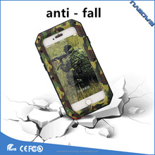 camouflage 360 full cover cover protective mobile phone case metal high quality tempered glass phone case for iphone 6 7 8plus /