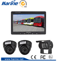 "7 "" HD Car TFT LCD Color Monitor Screen Rearview Display Backup Camera Monitor System for Truck Trailer Bus 4 Video Inputs"