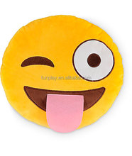 HI CE certificate popular custom plush emoji pillows wholesale plush toys from china