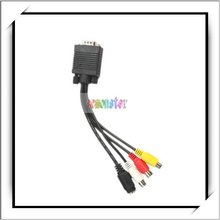 Hot!!! Computer to TV Cable VGA SVGA to S-Video 3 RCA