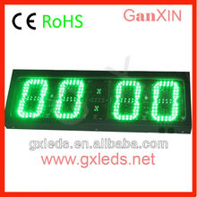 Outdoor cheap large 4 digit green led digital clock