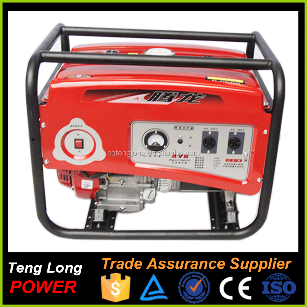 Hand crank start with 3 phase gasoline engine power generator for sale