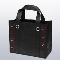New fashion recycle promotional shopping bag with eyelets