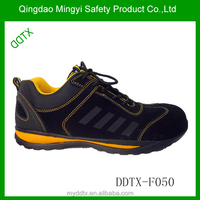 Top quality trainer nubuck leather rubber sole safety shoes