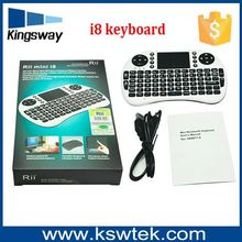 Normal & Backlight i8 Mini Wireless Keyboard Touchpad Russian English i8 keyboard 4 versions For Android TV BOX