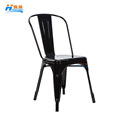 hot sale cheap outdoor stacking full metal iron banquet dining chair