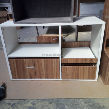 Door Storage Cabinet with Microwave Cart