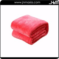 Factory supply high quality light weight adult coral fleece blanket