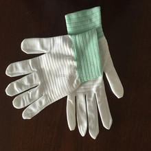 New gloves luminous fiber optical fabric