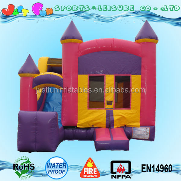 5 in 1 cheap inflatable mini combo jumper n dry slide for kids, commercial used party jumpers for sale