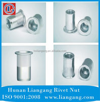 China Made full range low carbon steel knurled rivet nut-2