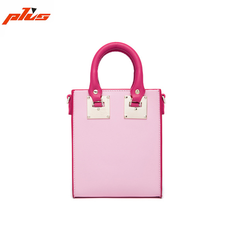 Custom Color Ladies Breifcase Hard Bag Women Genuine Leather Handbag