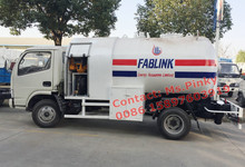 Liquefied petroleum gas Skid Refilling Truck 5000Liters Portable LPG Tank Trucks