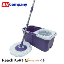 Household Cleaning Tools 360 Plastic Spin Wringer Telescopic Window Cleaner Folding Mop Bucket